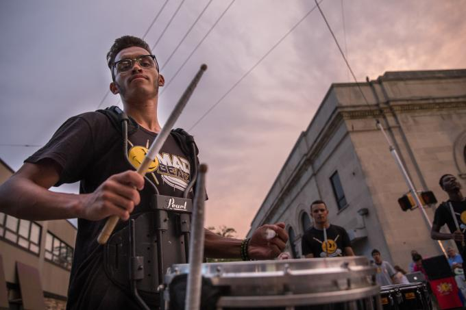 drum corps 2 night market roxborough 8 10 2017 credit dave tavani for the food trust